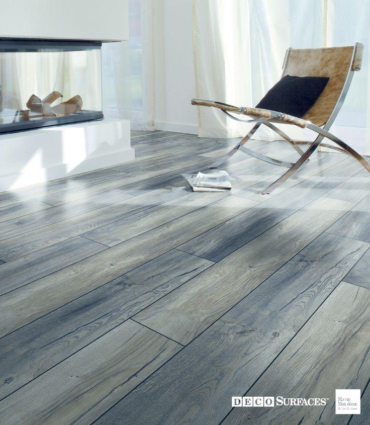 Les 25 meilleures idees de la categorie plancher flottant for Parquet gris bleu