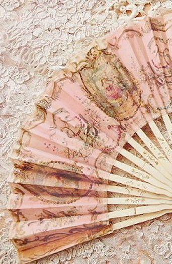 Pink Pastel Rosé Hand Fan ....                                                                                                                                                      More