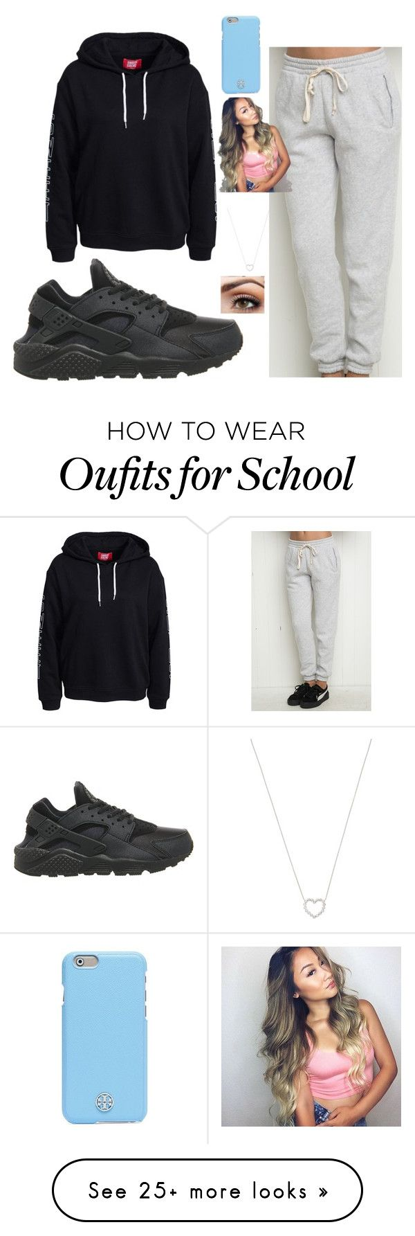 """""""school"""" by loveablegirl-774 on Polyvore featuring NIKE, Tiffany & Co. and Tory Burch"""