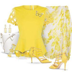 Sunny Yellow Karen Millen Peplum Top