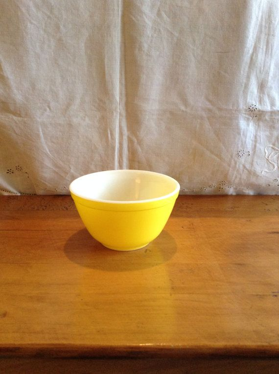 Vintage PYREX YELLOW Mixing BOWL. Smallest  by GottaBuyVintage