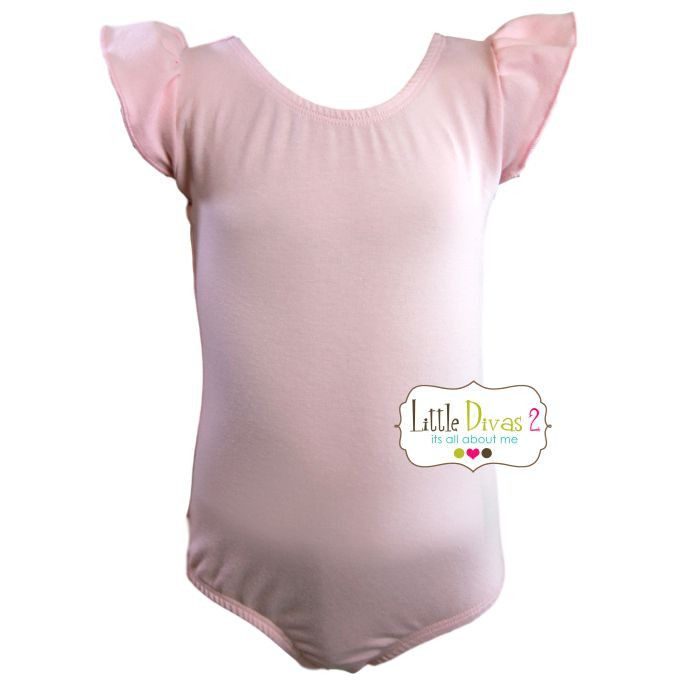 LT.PINK LEOTARD (Child) Flutter/Ruffle Sleeve