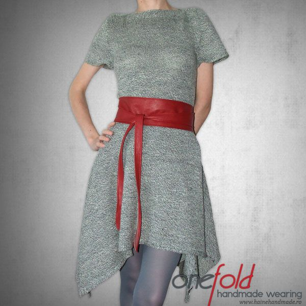 rochie tricotata din fir subtire