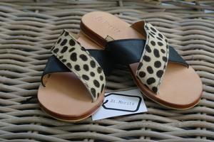 Zoe Slide - St. Moritz Design - Summer Shoes, Handbags, Slides and Accessories. Flat Leather Slides