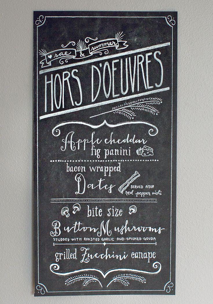 25  best ideas about chalk menu on pinterest