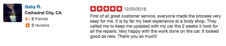 Happy #TestimonialTuesday! Today, we want to thank Gaby from Cathedral City, for leaving us this 5-star review on our Palm Desert location!   Thank you for your kind words, Gaby! We're seriously blushing 😳  #testimony #review #yelp