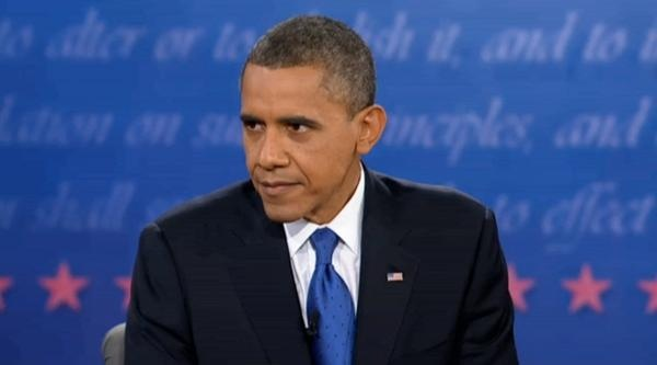 This image of Obama's angry stare pretty much sums up his debate performance.