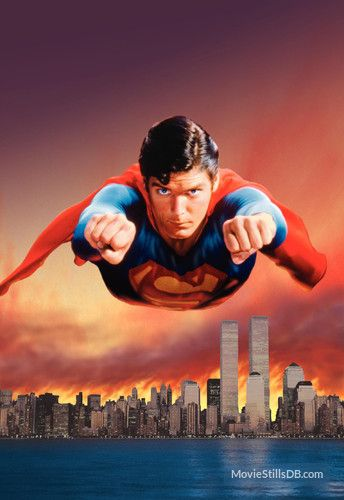 Superman II promotional art with Christopher Reeve