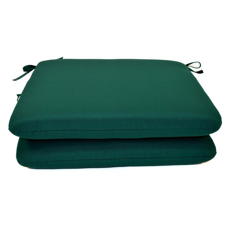 Casual Cushion Sunbrella Outdoor Seat Pad - Set of 2 Forest Green - DS2801-3013 2PK
