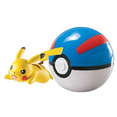 Pokémon  Clip And Carry Pikachu And Great Ball