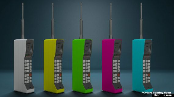 Killer news! The 1980's Brick Phone is back! Initially in the classic tan shade, more colors expected: Tan Shade, Brick Phones New, Mobile Phones, Brick Colors, Cell Phones, 1980 S Brick, 80S Brick, Phones New Colors