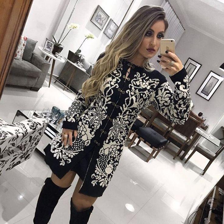"""121 curtidas, 23 comentários - Drops Feminina (@dropsfeminina) no Instagram: """"Aquele casaco mega divo  e super quentinho que chegou aqui na Drops. ♥️    compre pelo WhatsApp…"""""""