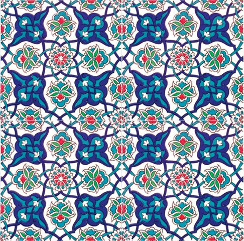 1000 images about geometric patterns square designs for Azulejos de iznik