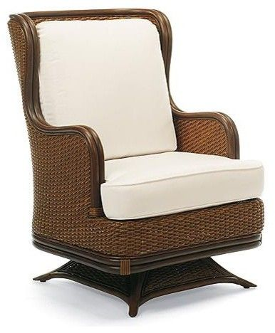 Pacifica Swivel Rocker Lounge Chair with Cushions - Frontgate traditional outdoor chairs