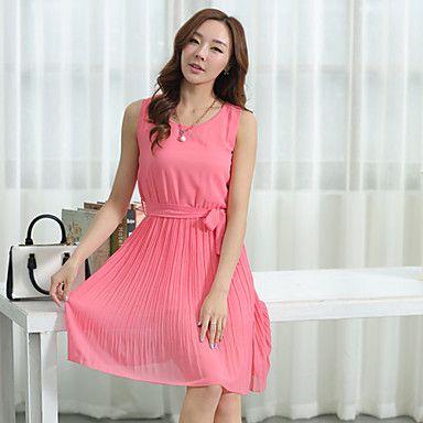 Fuchsia jurk lang
