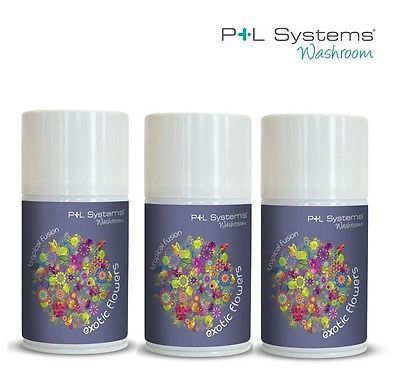 LUXURY Exotic Flowers Air freshener Refill Pack of 3 x 270ml P+L Systems