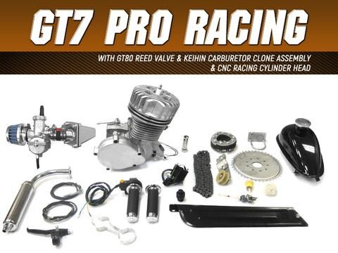 GT7 Pro Racing 66cc/80cc Bicycle Engine Kit | Gasbike.net
