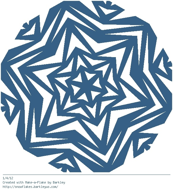 http://snowflakes.barkleyus.com/  Interactive Snowflake maker - great for radial symmetry