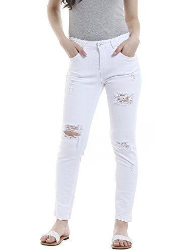 1ac53a550224 Only Onlrelax White DNM Rea231 Jean Boyfriend Femme Blanc (White White)  W29 L32