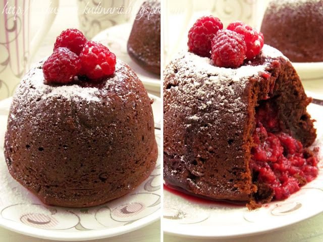 Постигая искусство кулинарии... : Шоколадный лава-кейк с малиной (Chocolate Lava Cak...