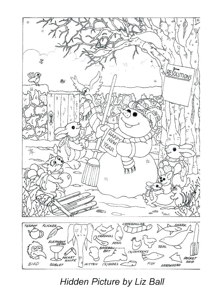 Printable Hidden Objects Coloring Pages Printable Hidden