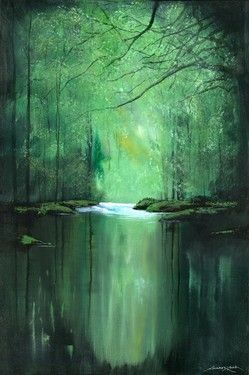 "Saatchi Online Artist Andrew Keola; Painting, ""Tranquil River"" #art"
