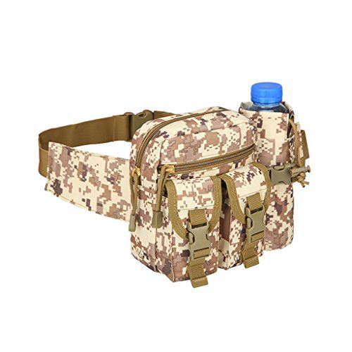 HMILYDYK Military Fanny Pack Tactical Multifunctional Storage Waist Bag Pack Waterproof Hip Belt Bag Pouch with Water Bottle Pocket Holders for Hiking Climbing Travel Running Fishing Outdoor >>> Continue to the product at the image link.