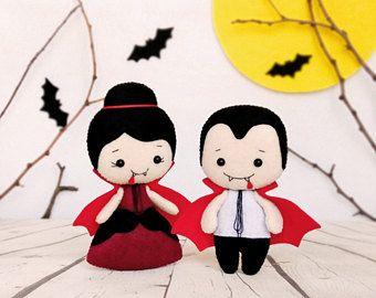 Halloween decoración adorno de Dracula vampiro juguete fieltro Halloween boda Creepy Cute gótico Casa Decor bebé ducha regalo Halloween fiesta de Halloween