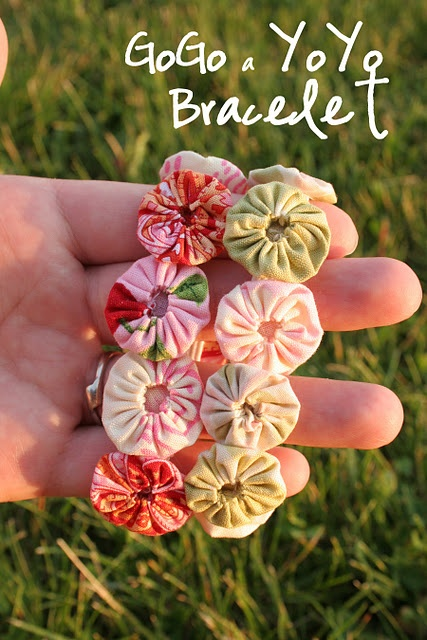 yo* yo bracelet - must try this...I have a heart shaped pattern for these