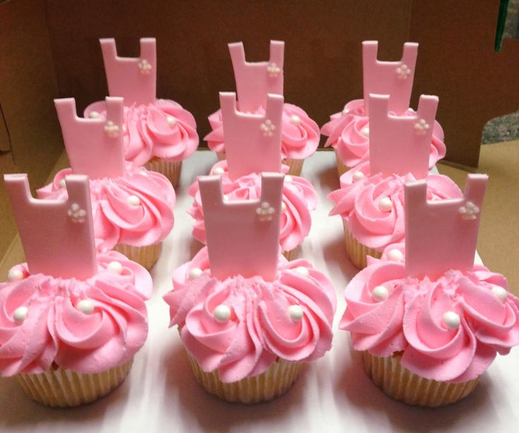 "Cakes by Mindy: Tutu or Tie Gender Reveal Cake 10"" and Cupcakes"