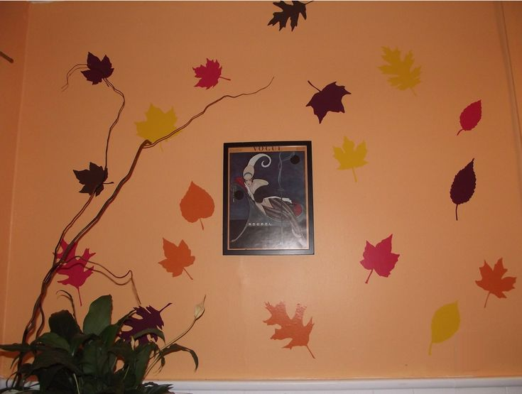 A Fall DIY project with WallPops! Trace leaves on WallPops peel and stick wall decals in Fall colors for a gorgeous Autumn decor accent. #walldecals  #wallart  #peelandstick  #WallPops  #wallstickers  #decor  #DIY  #decorating: Autumn Diy, Decor Ideas, Autumn Leaves, Holidays Ideas, Autumn Decor, Diy Decor, Groovi Ideas, Decor Diy, Halloween Ideas