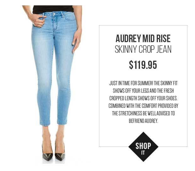 JAG Audrey Mid Rise Skinny Crop Jean