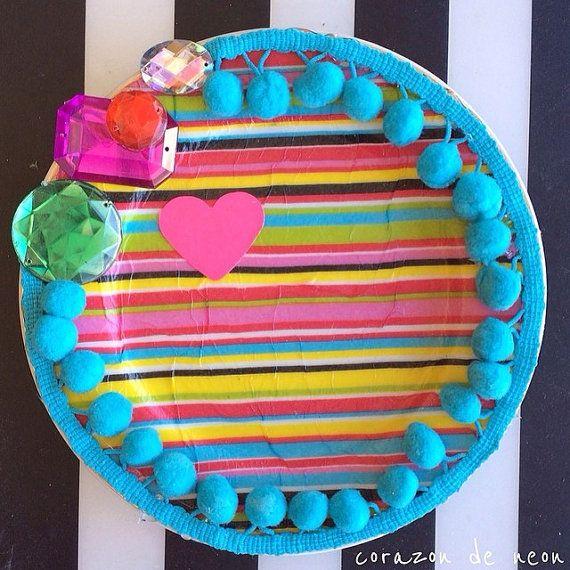 decorative plate by corazondeneon on Etsy, $12.00