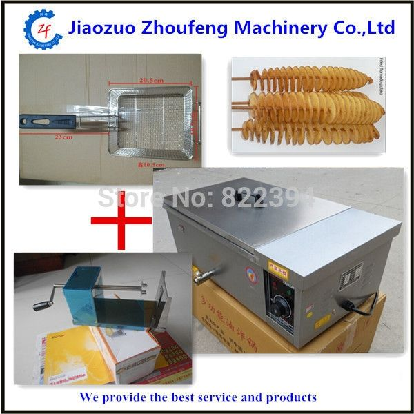 130.00$  Buy now - http://alik8t.worldwells.pw/go.php?t=2045525275 - Potato spiral fryer 2014 temperature control+manual potato spiral chips cutter  130.00$