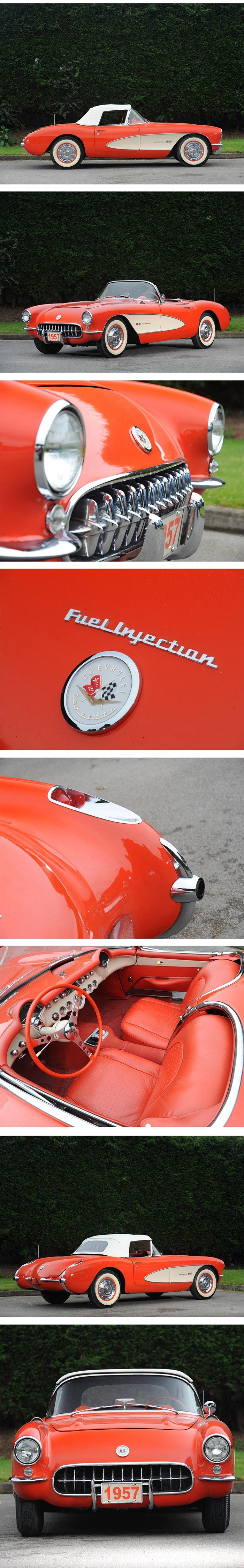 Cars and car stuff: 1957 Chevrolet Corvette Roadster — I've seen 4, touched 2, got to drive 1. And I put a model one together. Pure beauty! Nathan McGinley