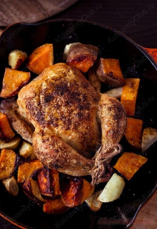 Запеченная Курица с бататом on http://kulinarniyclub.ru и