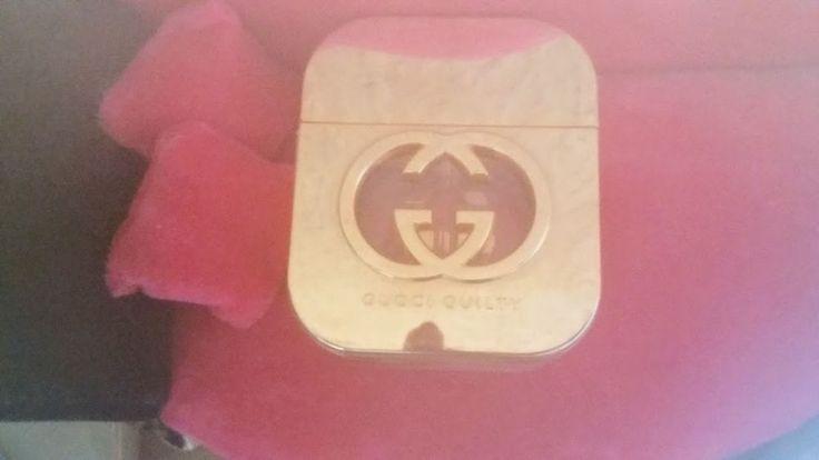 Gucci GUILTY Eau de Toilette 50ml d'occasion déjà servi mais il ne me tiens plus donc il est à moitié à peu près Prix d'origine et plein bien sûr : 78,99€ Envoi rapide et soigné