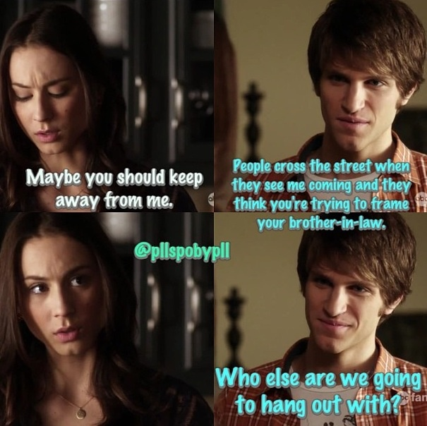 This was a cute Spencer and Toby moment.