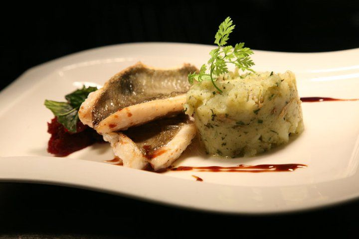 John Dory with herb-crushed new potatoes