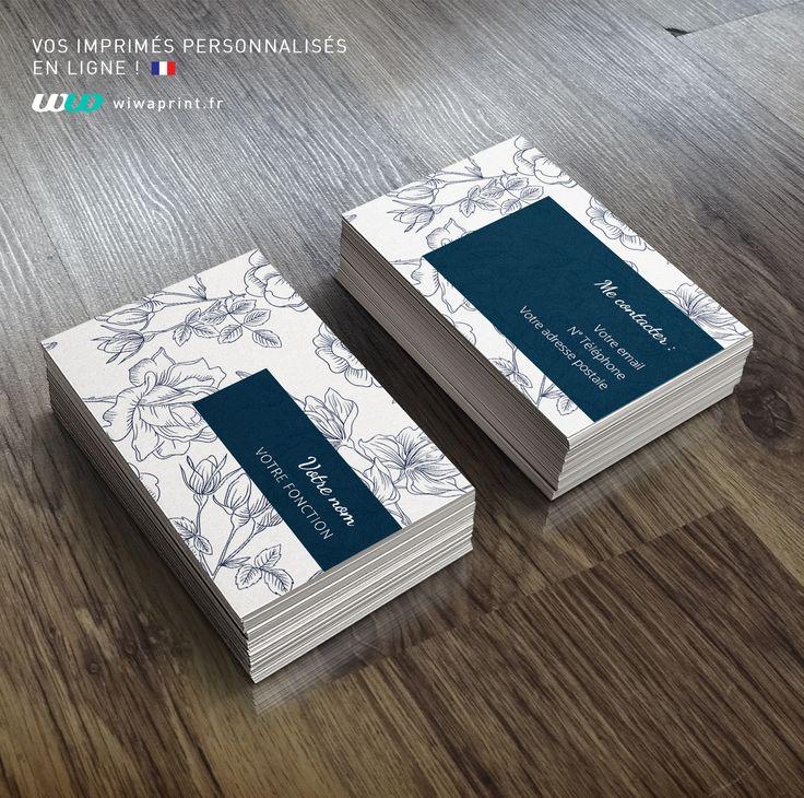 Carte de visite fleurs bleues #carte #de #visite #graphic #design #minimaliste #inspiration #modele #print #impression #cartes #card #fleurs #dessin #flowers