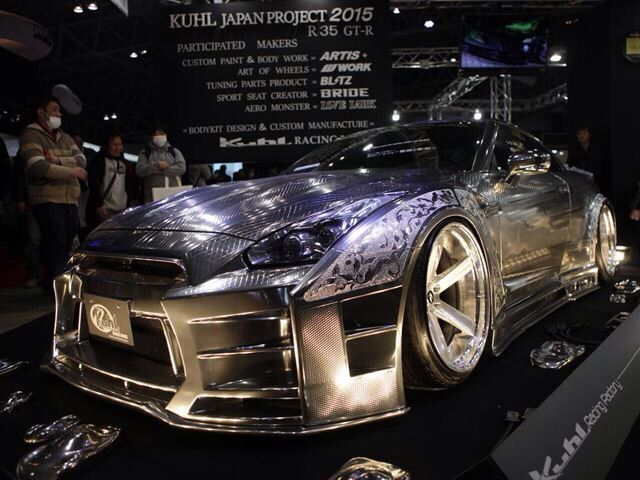 KUHL Racing Nissan GTR Sporting Ultimate Engraving Metallic Paint Job