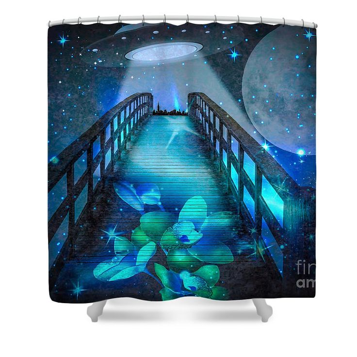 The Visit Shower Curtain by Eleni Mac Synodinos