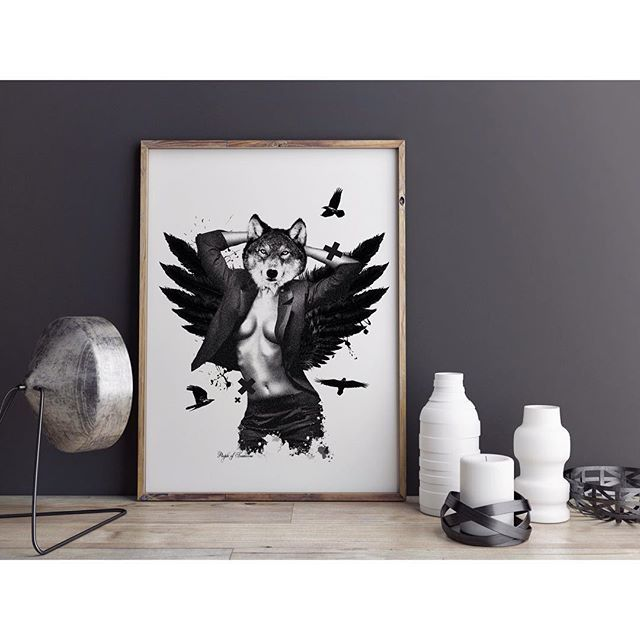 She wolf✖️poster #poster #interior #design #graphicdesign #home #decor #wall #art #wolf #print