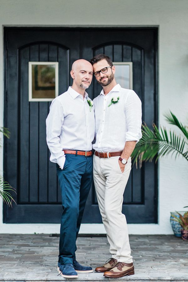 An intimate moment at same-sex wedding