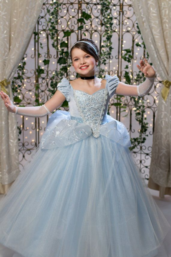 Cinderella Disney Inspired Princess Gown Tutu Dress by EllaDynae