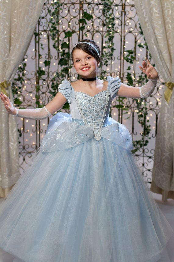 Cinderella Disney Inspired Princess Gown Tutu Dress by EllaDynae