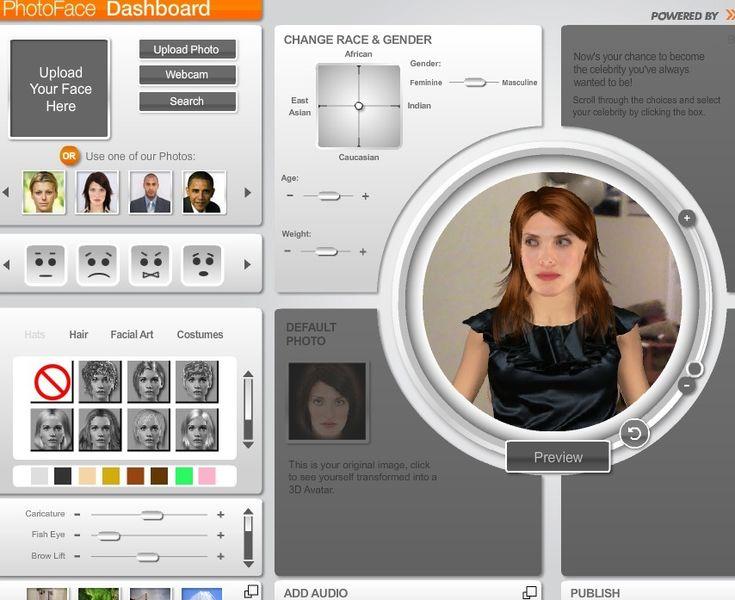 Oddcast Photoface Dashboard : pour animer et faire parler des photos. Idée : faire parler des tableaux célèbres ou des autoportraits réalisés par les élèves !