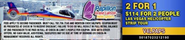 Las Vegas Strip Helicopter Tour Coupon - Papillon Helicopters