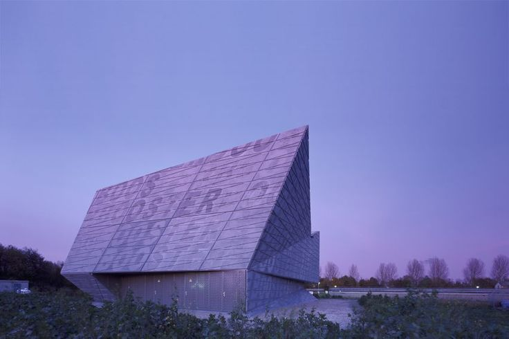 Booster pump station by Bekkering Adams Architecten  in pigmented prefabricated concrete