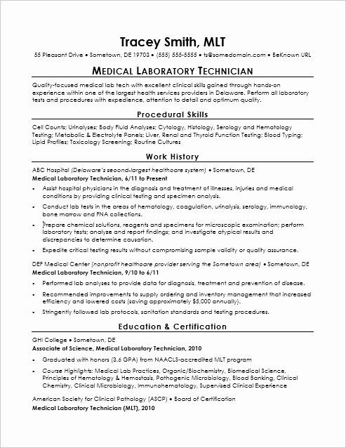 23 lab technician resume examples in 2020 with images